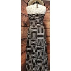Hypnotik Dresses - Strapless Black/White Maxi Dress